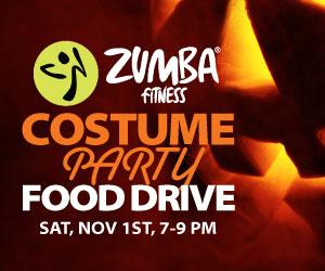 Zumba Costume Party Food Drive